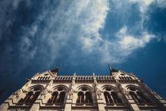(kareszzz) Tags: windows summer sky up architecture contrast hungary angle pov sony details budapest july parliament friday parlament a200 tamron 18200 2016