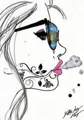 Edit by Amanda Poynor. Drawing is not by Amanda Poynor. #sexy #art #drawing #smoke #smoking #sunglasses #reflection #design #hotgirls #hot (A - Love Photography) Tags: sexy art drawing smoke smoking sunglasses reflection design hotgirls hot