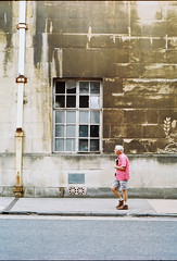 Havana, Bristol (joshuacolephoto) Tags: bristol uk england street streetphotography walk beige capture people lines hard film 135 kodak portra 400 nikon fe2