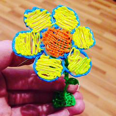 I'm kind of out of season right now, said the plastic flower. (ilove3dpen) Tags: im kind out season right now said plastic flower 3dpen art 3dmodel 3dprint 3dprinting flowerpower flowerart seasons