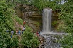 Crowded Falls (Doug Wallick) Tags: minnehaha falls minneapolis minnesota popular rain flow water destination urban people tourist