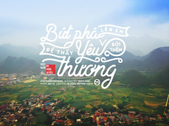 """Bt ph ln em,  thy yu thng i thm."" (Hucio Sang) Tags: typography artwork quote typo vietnamquote huciosang"