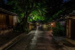 After the rain (Ka-merameha) Tags: street city light rain night town kyoto sony midnight ilce ilce7m2