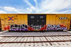 (o texano) Tags: houston texas graffiti trains freights bench benching genji mook nfm mhc