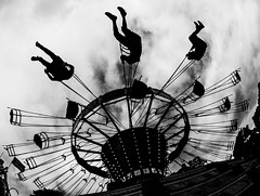 Fairground ride (Mike Thorn) Tags: fair mikethornberry fairground ride carters silhouette people
