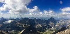 Views (caplanK) Tags: glaciernationalpark montana nationalpark iphone6s mountains mountaineering rockymountains peaks clouds sky skyline alpine altitude