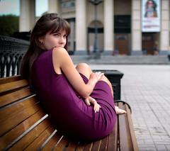 IMG_6450-2 (Alexis2k) Tags: olga  girl violet bench   hair eyes