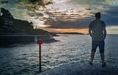 San Juan de Luz (Francia) (Gelert, el eterno aprendiz) Tags: lg san juan de luz mar costa silueta figura nubes francia