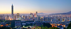 (aelx911) Tags: sunset night landscape cityscape taiwan 101 taipei hdr a7  ilce7 sel2470z fe2470f4