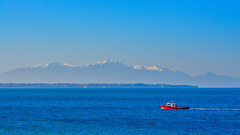 View of Mountain Olympus. (Photo_hobbyist) Tags: sea mountain snow boat pics olympus greece macedonia thessaloniki timeless