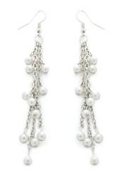 5th Avenue White Earrings P5610-1