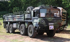 Big military carrier (Schwanzus_Longus) Tags: 8x8 army badass bundeswehr camo cargo carrier classic flatbed freight german germany gl hannover heer huge man military museum tram truck vehicle vintage old 15to