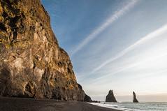 Black beach (MiiaToivonen) Tags: ocean mountain beach nature rock island iceland rocks south vik blackbeach luonto islanti