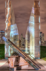 Empty Sky (mhoffman1) Tags: nyc night evening newjersey memorial jerseycity unitedstates 911 nj tribute september11 hdr girder libertystatepark photomatix a7r