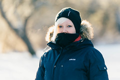 Sunlight, winter and 70-200 / explore #35 22/1-15 (Kasinfoto @ Facebook) Tags: winter portrait woman sun snow cold nikon bokeh sunny explore tamron 70200 f28 d610