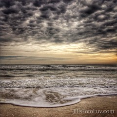 The beach called my name... (jillsfotoluv) Tags: sky beach water clouds virginia sand waves foam chincoteaguenationalwildliferefugeloop