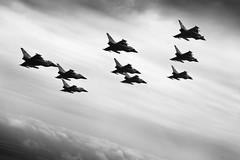 Diamond-Nine Typhoon (Rogue86Photog) Tags: uk cathedral unitedkingdom jubilee lincolnshire diamond formation lincoln raf rafwaddington xisqn royalairforce rafcranwell airair rafscampton rafconingsby 29rsqn 3fsquadron rafconinsgby nineship sacgrahamtaylor