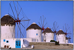 (2.514) Mykonos / Griechenland (unicorn 81) Tags: travel blue sea summer white holiday windmill june juni geotagged island europe mediterranean sommer windmills insel greece grecia griechenland cyclades mykonos kerstin reise mikonos 2014 windmhle greekisland mykonosgreece  mkonos kykladen southaegean griechischeinsel  greciamykonos commentbygwlap mykonoswindmhlen
