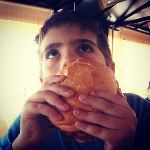 Kid's size burger