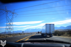 December 28 : Truckin' (RachelBrandtPhotography) Tags: road trip travel snow mountains cars car truck photography drive rachel highway driving ride desert powerlines riding mojave freeway lancaster brandt antelopevalley palmdale mojavedesert rachelbrandt rachelbrandtphotography