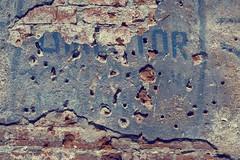 the layers of history (Khuroshvili Ilya) Tags: facade war bricks bullets worldwar2 2007 koenigsberg