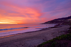 Sunset at The Pacific (ndutzie) Tags: ocean california sunset sea usa beach landscape losangeles fuji pacific fujixe1
