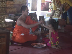 Monk and Child Vientiane