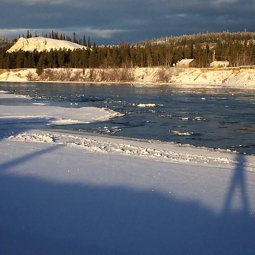 Shadow selfie on #Yukon River #yxy