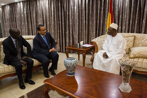 Meeting with the President of Guinea, Alpha Condé