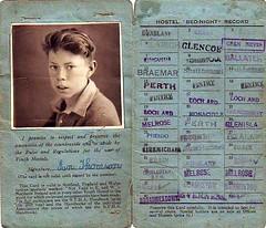 Old Scottish Youth Hostel Card