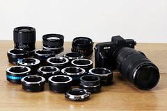 Nikon 1 Adapter Family (FotodioxPro) Tags: family v1 vintageglass productphotography vintagelens lensadapter nikon1 mirrorless fotodiox productline fotodioxpro retrolens nikon1lensadapter mountaretrolensonanikon1camera