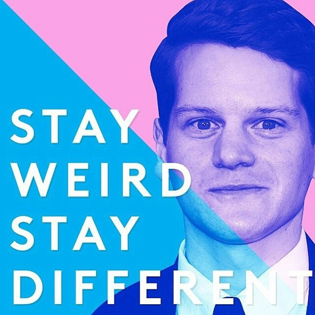 #Graham Moore <3 #dontgiveup #stayweird #staydifferent  #stayYOU #Oscars