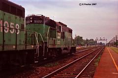 BN 1977 LV 7-87 (eyepilot13) Tags: summer 1987 bn il 1958 1977 berwyn lavergne racertrack gp9s firstgensurvivors
