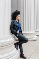 6H0A9796 (ccb621) Tags: winter black leather fashion model mit pillar columns mohawk column tiffany killiancourt tiffanyandrade