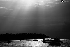 Cloud Play (Kovendhanv) Tags: sea blackandwhite bw india beach monochrome landscape mono ship ngc sunrays andaman cwc theperfectphotographer eyediary