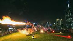 Enter the Dragon (Pat Charles) Tags: city longexposure color colour festival night lights nikon australia melbourne victoria whitenight 2015