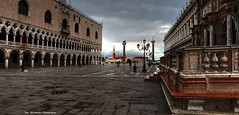 early morning walk at st marks square (Rex Montalban Photography) Tags: venice italy europe hdr stmarkssquare rexmontalbanphotography