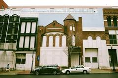 (september.) Tags: street winter building film facade 35mm washingtondc nw northwest cloudy canonae1 metrocenter canonfd fujifilmsuperia400 canonfd28mmf28 8thstreetnw