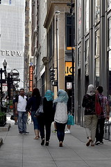 Politics (draketoulouse) Tags: street city people urban chicago color building architecture nikon loop muslim islam streetphotography ave multicultural trump wabash xenophobia verysmallhands