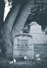 """""""Girl in Blue"""" [Week 27 of 52] (Jackie O. Photography) Tags: life county blue ohio summer lake history girl cemetery train death december cleveland cemetary trains gravestone tombstones lakecounty dtw willoughby girlinblue"""
