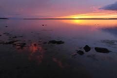 Baie de Rimouski - 1 (Patrice StG) Tags: sunset river dusk gimp qubec stlawrence stlaurent crpuscule couchant coucherdesoleil fleuve stlawrenceriver bassaintlaurent basstlaurent d700