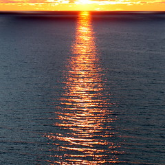 thinking of christmas tree (kexi) Tags: square water ripples sea balticsea sunset reflection symmetry blue orange poland polska canon june 2015 red horizon clouds sun instantfave wow
