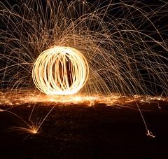 Fireball (mme1998) Tags: sphere ball sparks fire steelwool light dark lighttrails paintingwithlight longexposure nikon d3300 dslr hampshire