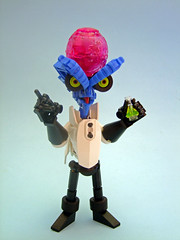 Doctor Karnakogg (Djokson) Tags: lego moc djokson evil professor alien monster chemicals potion vial brain blue pink white doctor