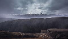 Sun beams (sailomkaa) Tags: china road summer sky cloud mountain snow mountains rain clouds skyscraper dark way twilight rainforest warm republic cloudy hill foggy tibet valley tibetan seda cloudscape slope topview rainny otw sertar