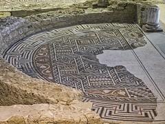 A mosaic apse in Loupian Roman Villa near Loupian, France. (mharrsch) Tags: roman villa loupian mosaic floor pavement architecture ancient gaul france mharrsch archaeology