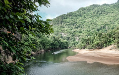 Remote (Tricycl) Tags: river kwai thailand jungle forest trees boats kanchanaburi water sand tropical tropicale thalande fuji x70 fujifilm