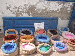 All the colours (ivi c) Tags: blue colouful street morroco