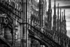 Vigil. (Bill Thoo) Tags: travel italy abstract milan statue stone architecture cathedral milano sony ngc surreal medieval duomo lombardy masonary 2470mm milancathedral alpha900