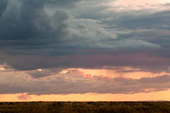 Thunder clouds at sunset (Sjensen~) Tags: sunset clouds landscape rays gilded rainclouds thunderhead